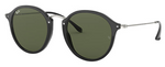Rayban Round Fleck Black & Silver Frame (RB 2447) - Shop Escape Outdoors