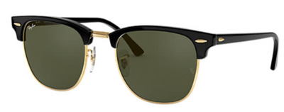 Rayban Clubmaster Classic Black & Gold Frame (RB 3016) - Shop Escape Outdoors