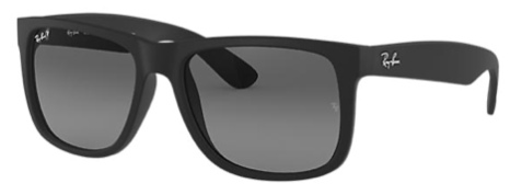 Rayban Justin Classic Matte Black Frame with Blue Lens (RB 4165) POLARIZED - Shop Escape Outdoors