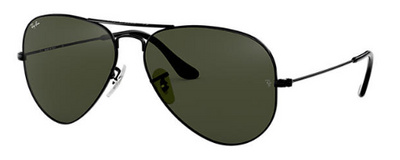 Rayban Aviator Classic Black Metal Frame (RB 3025) - Shop Escape Outdoors
