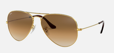 Rayban Aviator Gold Frame with Brown Gradient Lens (RB 3025) - Shop Escape Outdoors