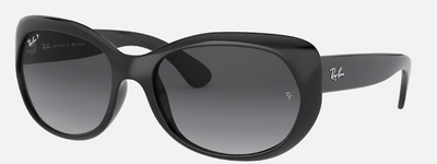 Rayban Black Frame with Black Gradient Lens (RB 4325) POLARIZED - Shop Escape Outdoors