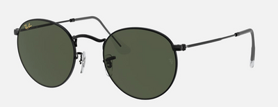 Rayban Round Metal Black Frame with Classic G-15 Lens (RB 3447) - Shop Escape Outdoors