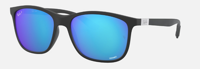 Rayban Chromance Matte Black Frame with Blue Lens (RB 4330) POLARIZED - Shop Escape Outdoors