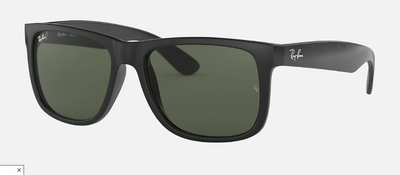 Rayban Justin Classic Matte Black Frame with Classic Green Lens (RB 4165) - Shop Escape Outdoors