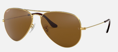 Rayban Aviator Gold Frame with Brown Gradient Lens (RB 3025) POLARIZED - Shop Escape Outdoors