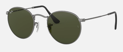 Rayban Round Gunmetal Frame with Classic G-15 Lens (RB 3447) - Shop Escape Outdoors