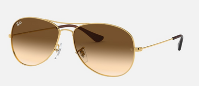 Rayban Cockpit Gold Frame with Brown Gradient Lens (RB 3362) - Shop Escape Outdoors