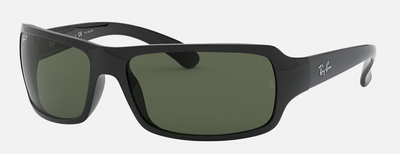 Rayban Black Frame with Classic G-15 Lens (RB 4075) POLARIZED - Shop Escape Outdoors