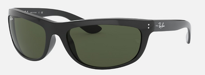 Rayban Balorama Black Frame with Classic G-15 Lens (RB 4089) POLARIZED - Shop Escape Outdoors