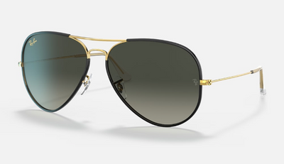 Rayban Aviator Full Color Legend Black and Gold Frame with Gradient Lens (RB 3025JM) - Shop Escape Outdoors