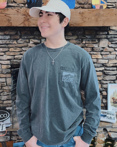 Monochrome Escape Outdoors Long Sleeve Tee - Shop Escape Outdoors