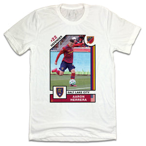 Aaron Herrera MLSPA Player Card T-shirt Real Salt Lake