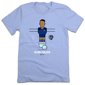Official Alan Pulido Foosball Sporting Kansas City T-shirt