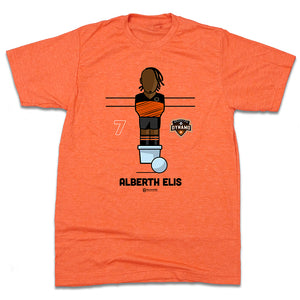 Official Alberth Elis Foosball Houston Dynamo T-shirt