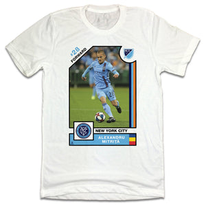 Alexandru Mitrita MLSPA Player Card T-shirt New York City FC