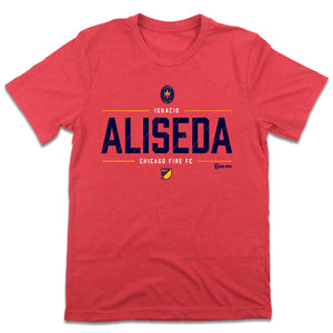 Ignacio Aliseda MLSPA Chicago Fire T-shirt