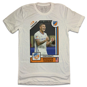 Official Brandon Vazquez Player Card Tee