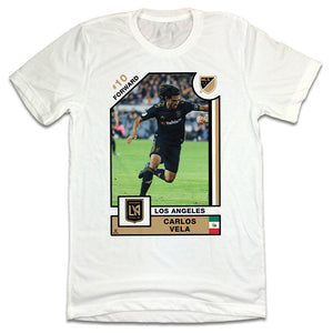 Carlos Vela MLSPA Player Card T-shirt Los Angeles FC