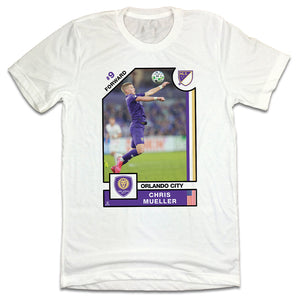 Chris Mueller MLSPA Player Card T-shirt Orlando City