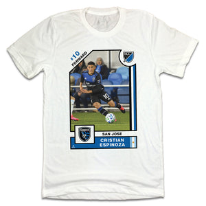 Cristian Espinoza MLSPA Player Card T-shirt San Jose Earthquakes