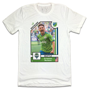 Cristian Roldan MLSPA Player Card T-shirt Seattle Sounders