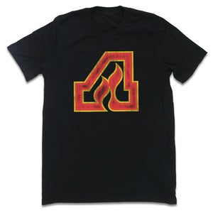 Atlanta Flames color logo T-shirt