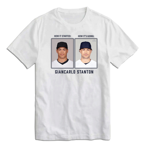 Giancarlo Stanton Then & Now MLBPA Tee