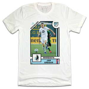 Official Jan Gregus MLSPA Player Card T-shirt Minnesota United