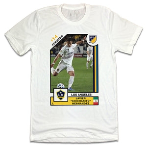 "Official Javier ""Chicharito"" Hernández MLSPA Player Card T-shirt L.A. Galaxy"