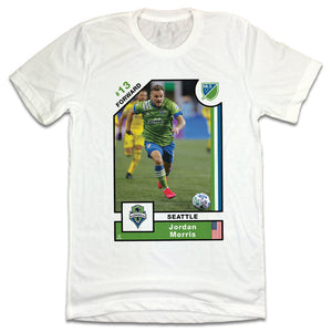 Jordan Morris MLSPA Player Card T-shirt Seattle Sounders