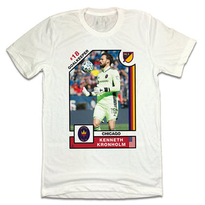 Kenneth Kronholm Official MLS Player Card T-shirt Chicago Fire FC