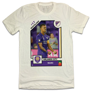 Nani Official MLS Player Card T-shirt Orlando City