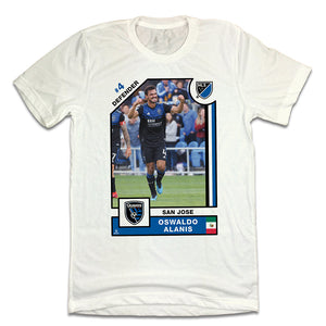 Oswaldo Alanis Official MLS Player Card T-shirt
