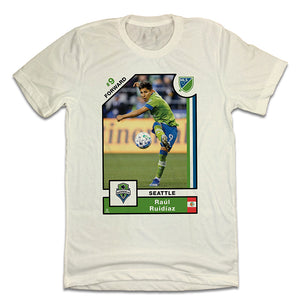 Raul Ruidiaz Official MLS Player Card T-shirt Seattle Sounders