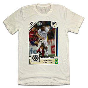 Sergio Santos Official MLS Player Card T-shirt Philadelphia Union