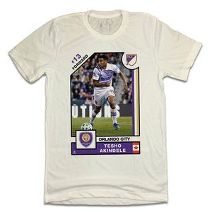 Tesho Akindele Official MLS Player Card T-shirt