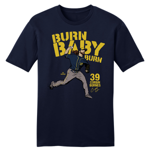 Official Corbin Burnes MLBPA Tee Navy