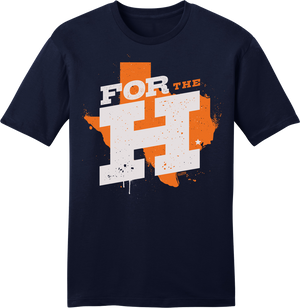 For the H - Houston Rally Tee Navy