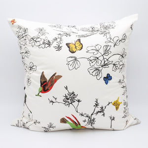 Black and White Print Pillow