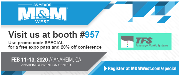 Exhibition at MD&M West 2020 (Anaheim, CA)