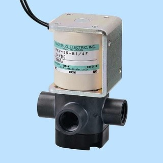 Diaphragm Valve - PKV Series [3-way / Orifice: 6.0 mm / PTFE, PEEK, PPS Body / Negative Pressure]