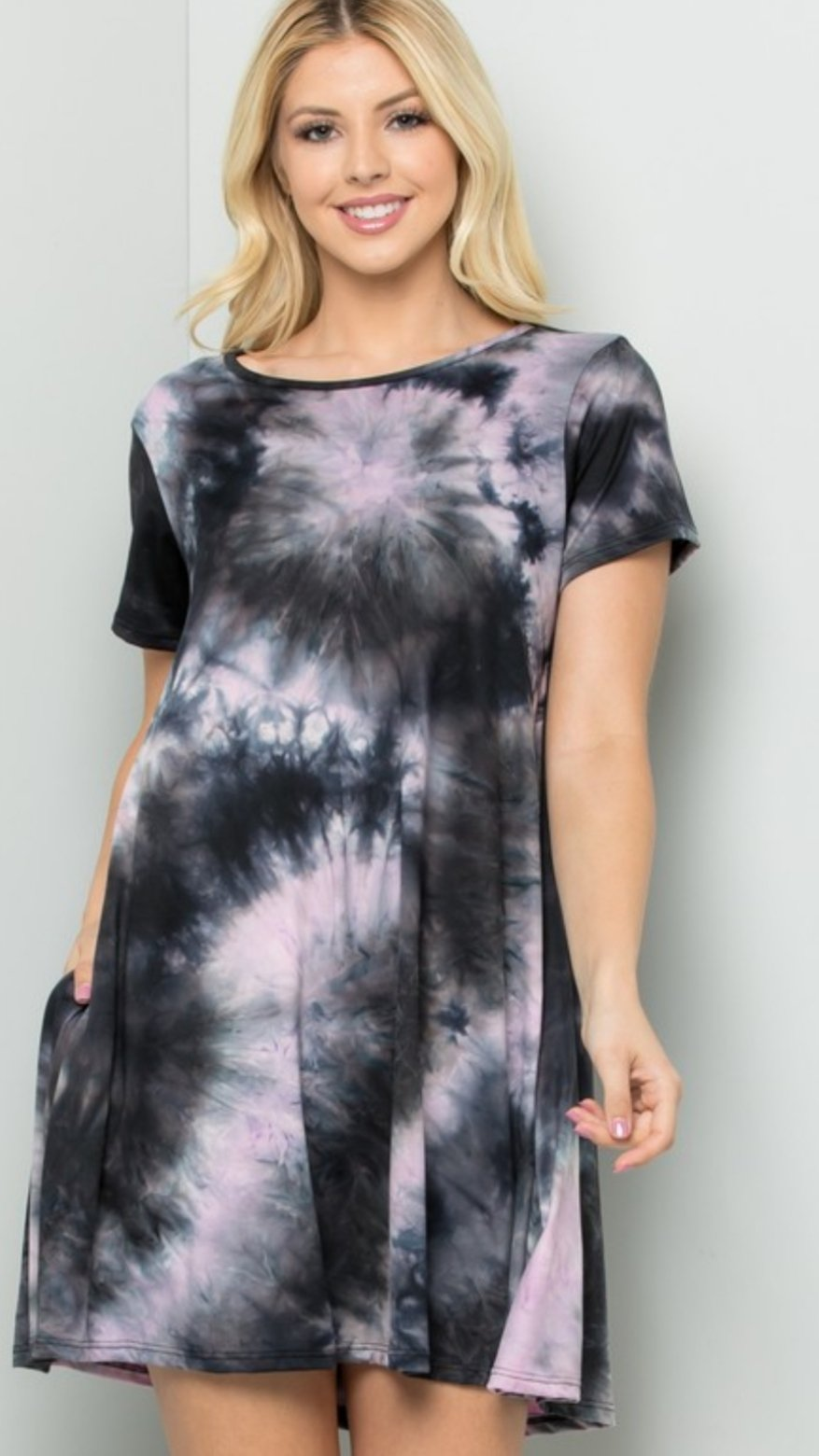 Isla tie dye tunic dress *Final Sale*