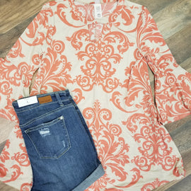 FINAL CALL- Micha blouse in coral