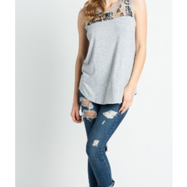 PLUS Laynie snake tank in taupe *Final Sale*