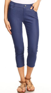 Denim Capri Jeggings