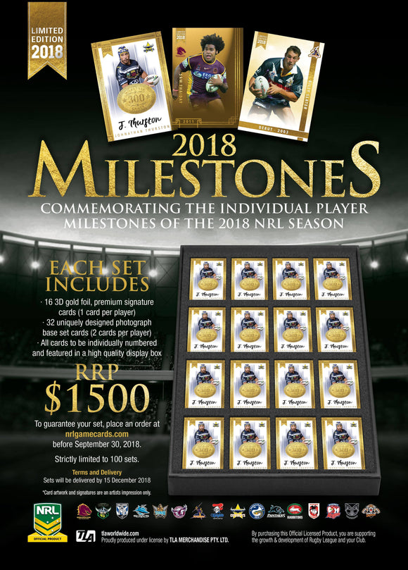 2018 NRL Milestone Limited Edition Sets