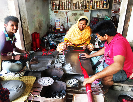 LAC BANGLE MAKING