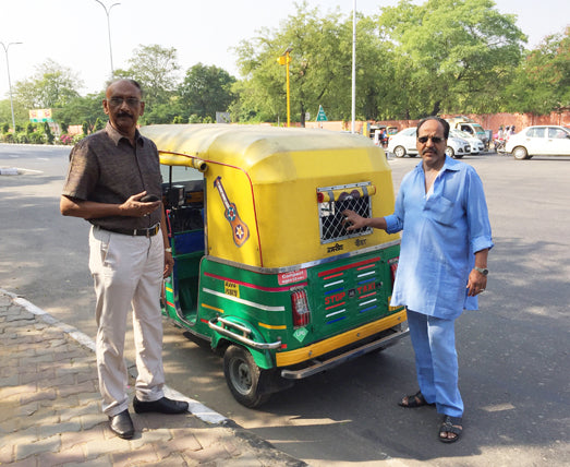 MR V AND DRIVER IN BLUE