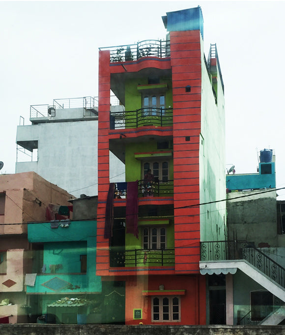 red green building